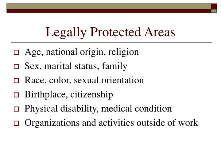 Legally Protected Areas