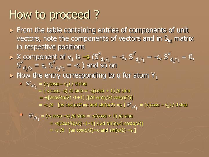 How to proceed ?