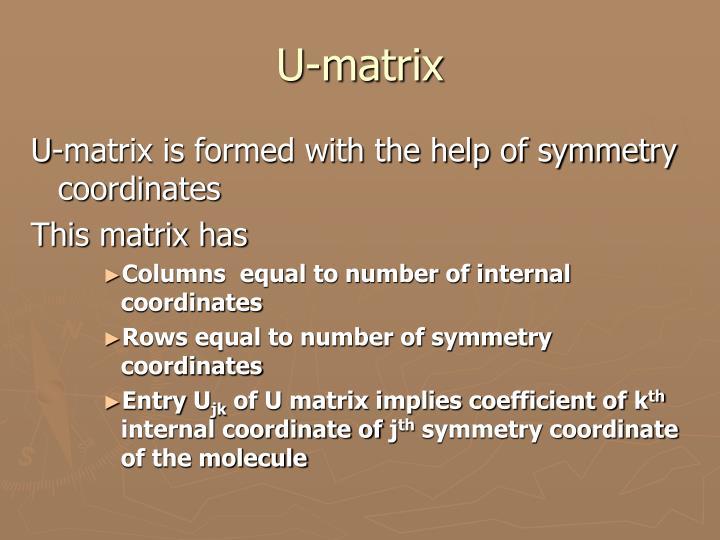 U-matrix