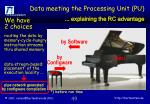 data meeting the processing unit pu
