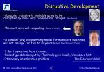 disruptive development