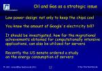 oil and gas as a strategic issue