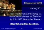 rceducation 2008