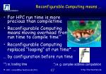 reconfigurable computing means