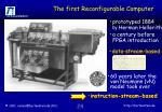 the first reconfigurable computer