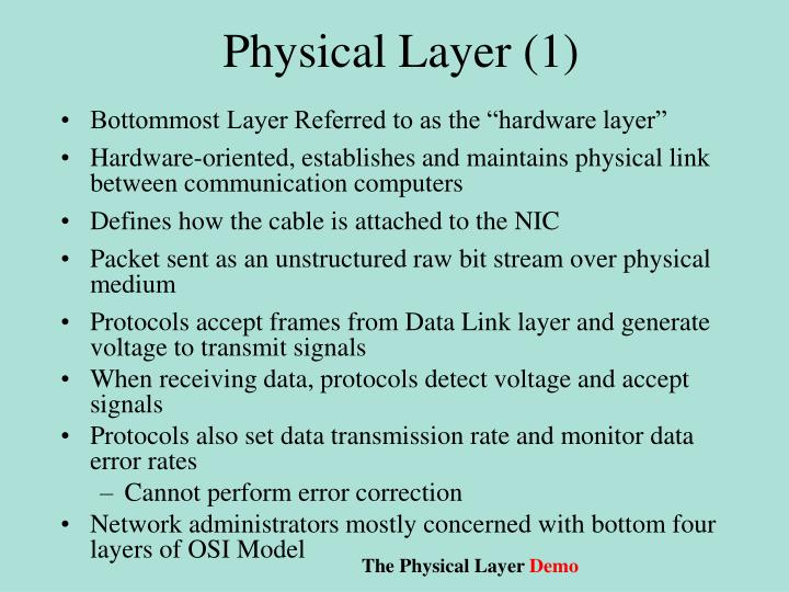Physical Layer (1)