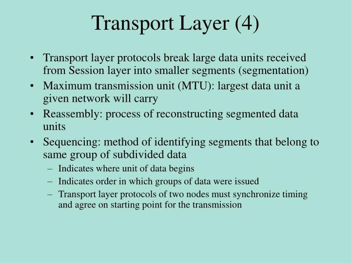 Transport Layer (4)