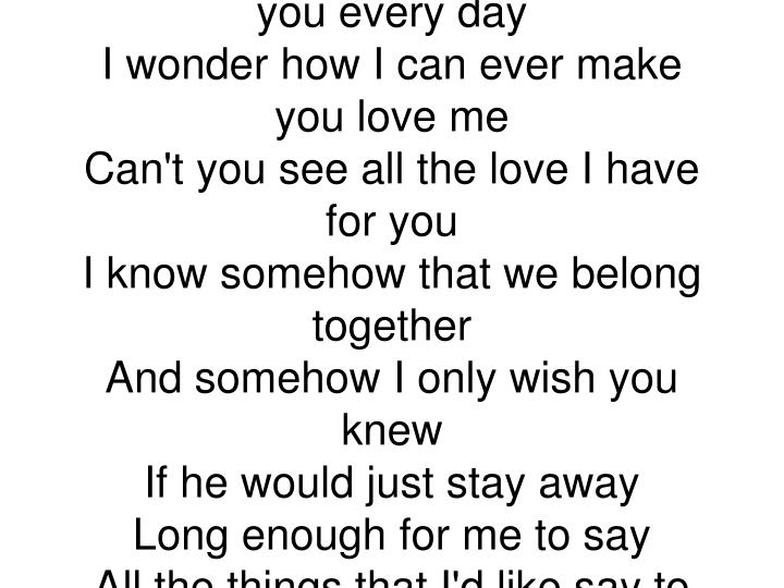 I Only Wish You Knew