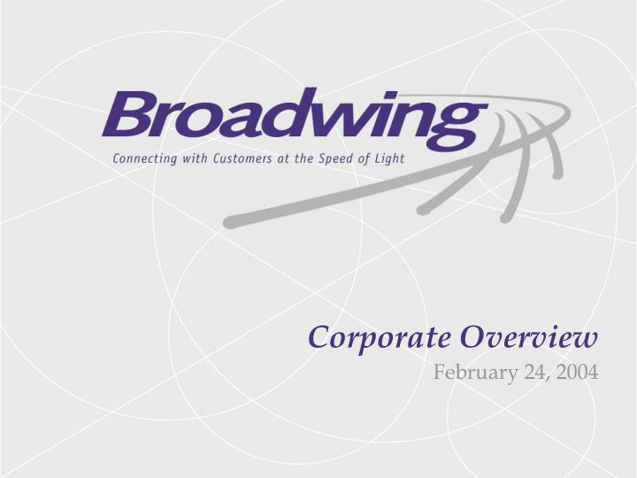corporate overview n.