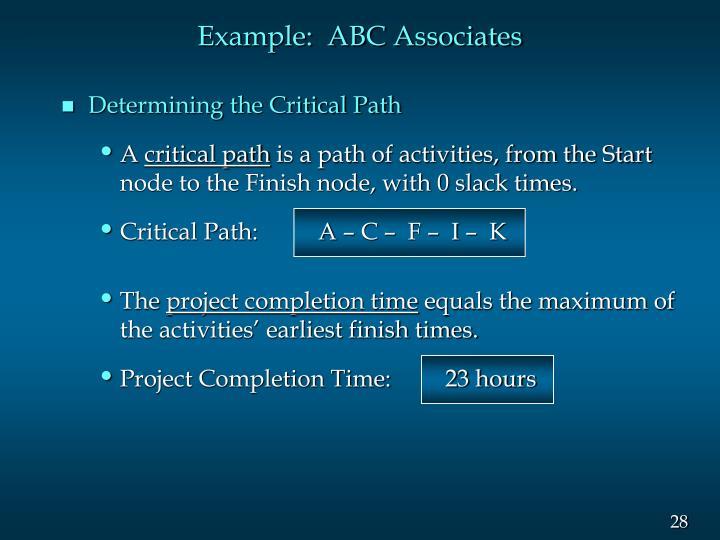 Example:  ABC Associates
