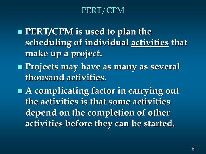 PERT/CPM
