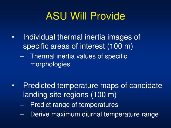ASU Will Provide