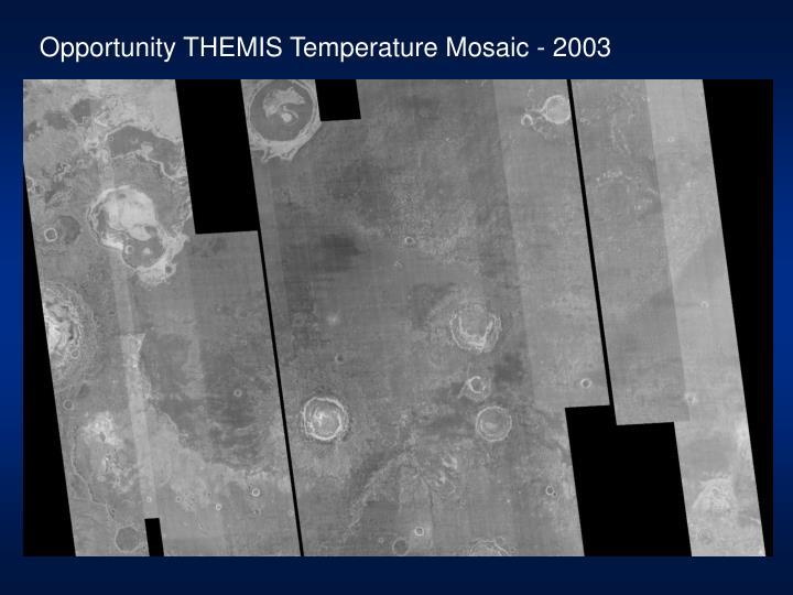 Opportunity THEMIS Temperature Mosaic - 2003