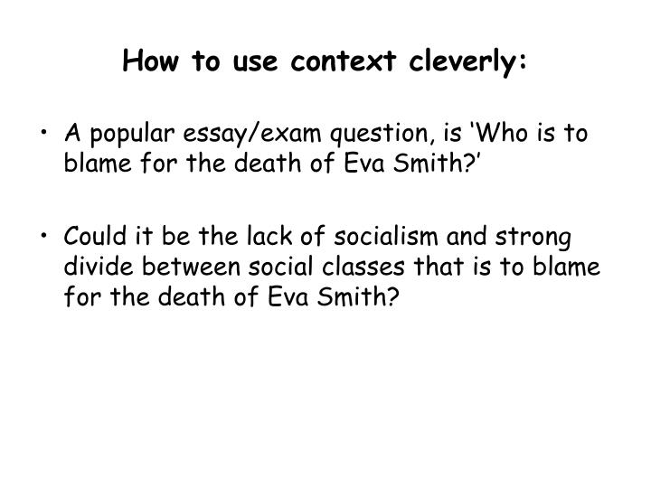 How to use context cleverly: