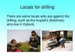 locals for drilling