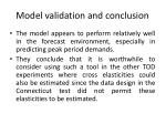 model validation and conclusion