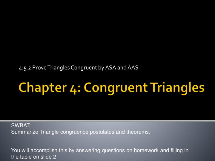 4 5 2 prove triangles congruent by asa and aas n.