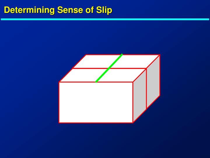 Determining Sense of Slip