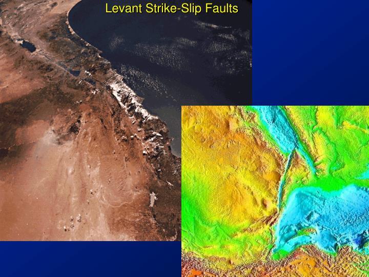 Levant Strike-Slip Faults