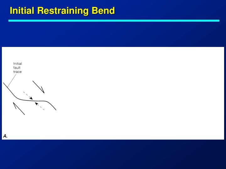 Initial Restraining Bend
