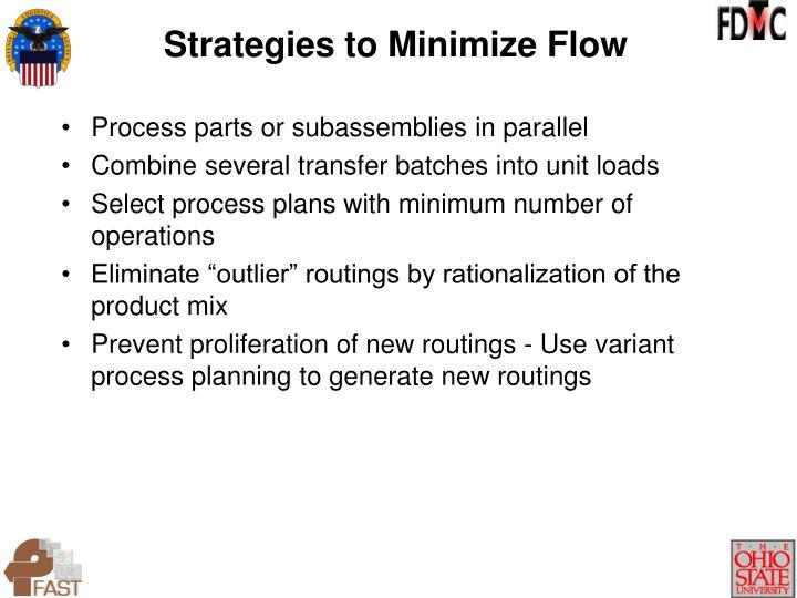 Strategies to Minimize Flow