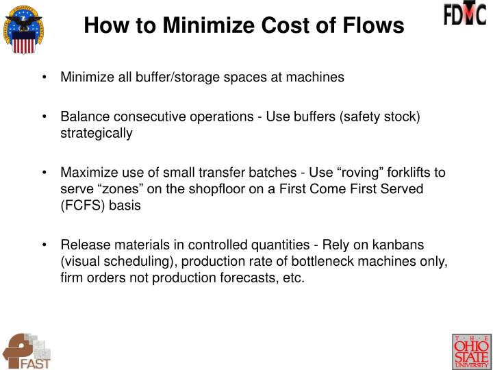 Minimize all buffer/storage spaces at machines