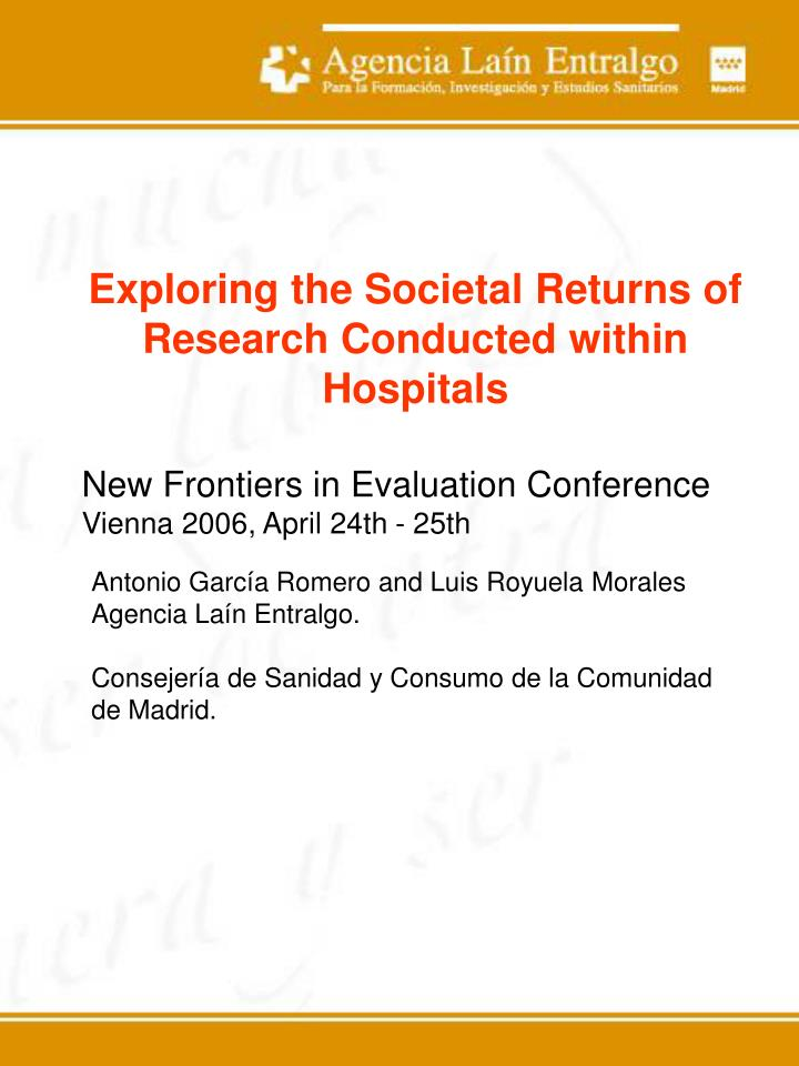 Exploring the Societal Returns of Research Conducted within Hospitals