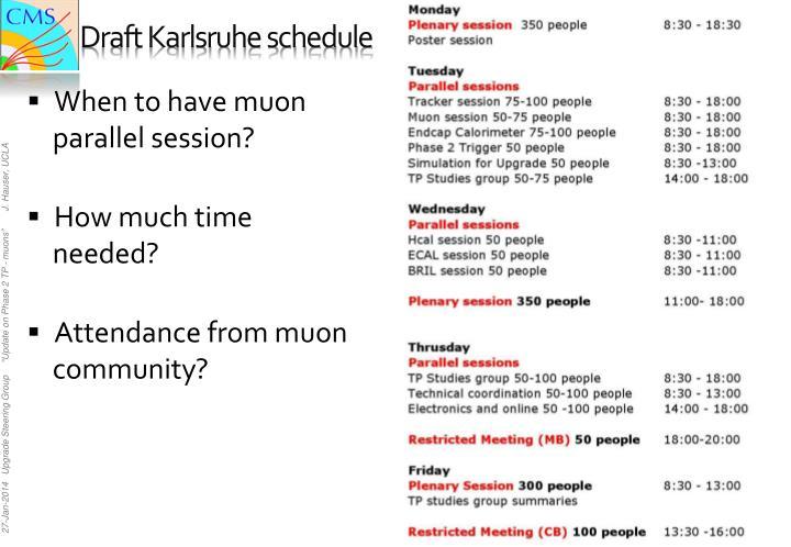 Draft karlsruhe schedule