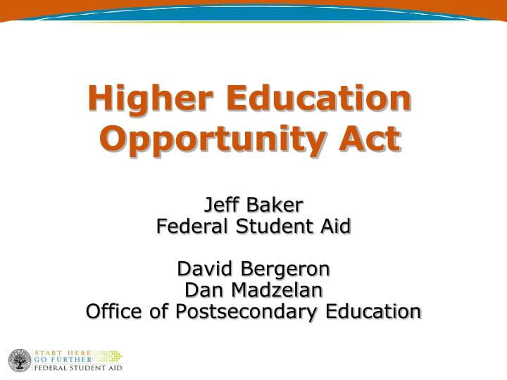 higher education opportunity act n.