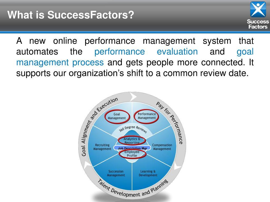 PPT - SuccessFactors On-Line Performance Evaluation System