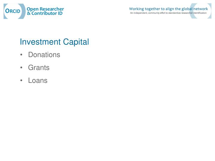 Investment Capital