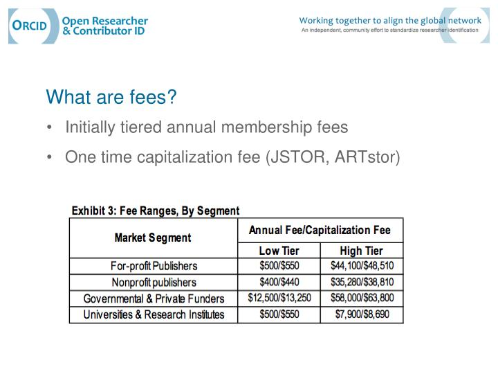 What are fees?