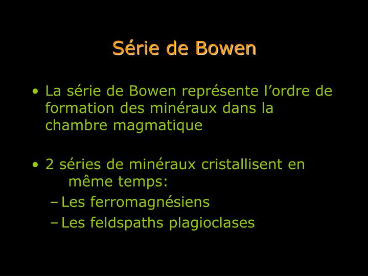 Série de Bowen