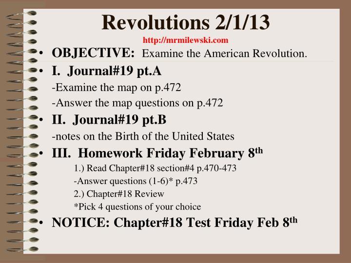 Revolutions 2/1/13