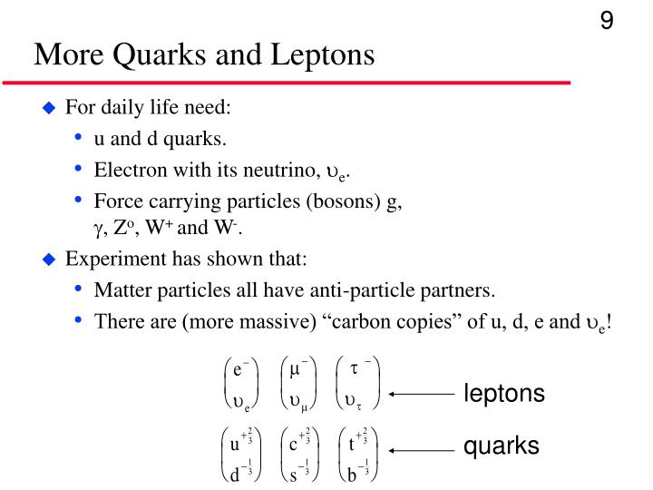 More Quarks and Leptons