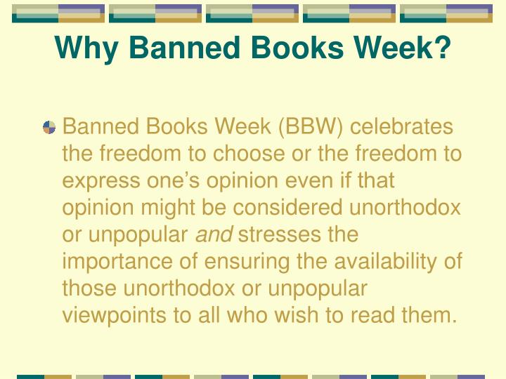 Why banned books week