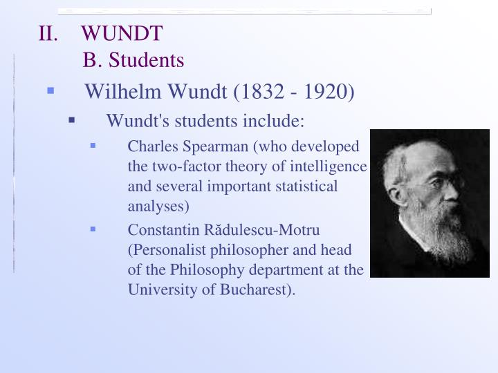 an analysis of wihelm wundts concept of discipline with structuralism