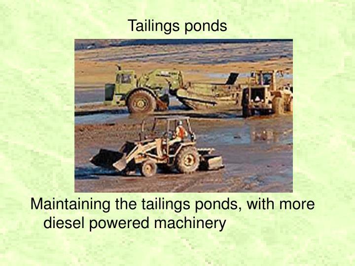 Tailings ponds