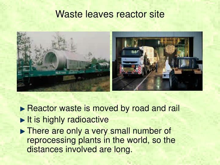 Waste leaves reactor site