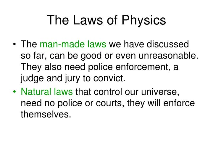 the laws of physics n.