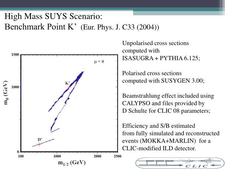 High Mass SUYS Scenario: