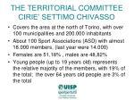 the territorial committee cirie settimo chivasso