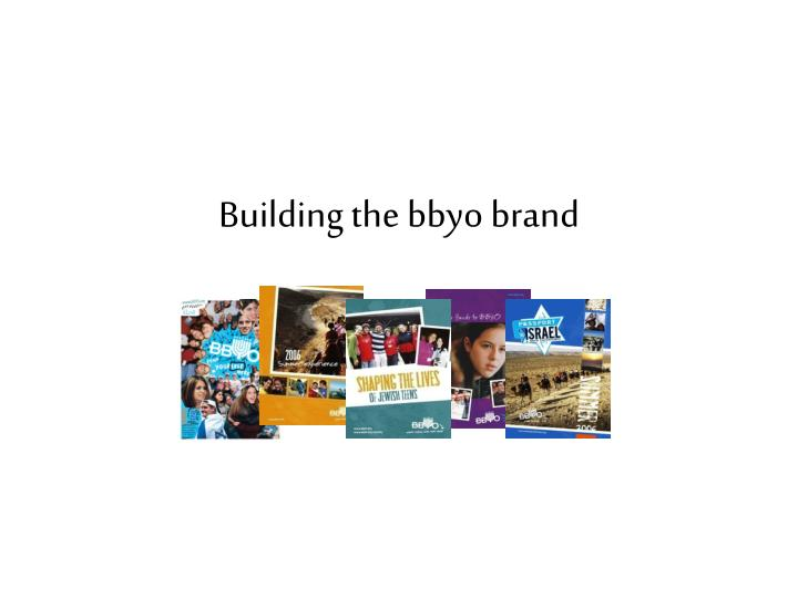 building the bbyo brand n.