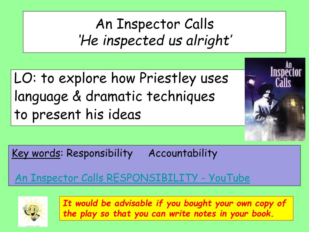 responsibility in an inspector calls