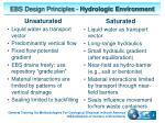 ebs design principles hydrologic environment
