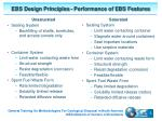 ebs design principles performance of ebs features