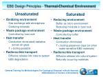 ebs design principles thermal chemical environment