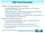 ebs panel discussion