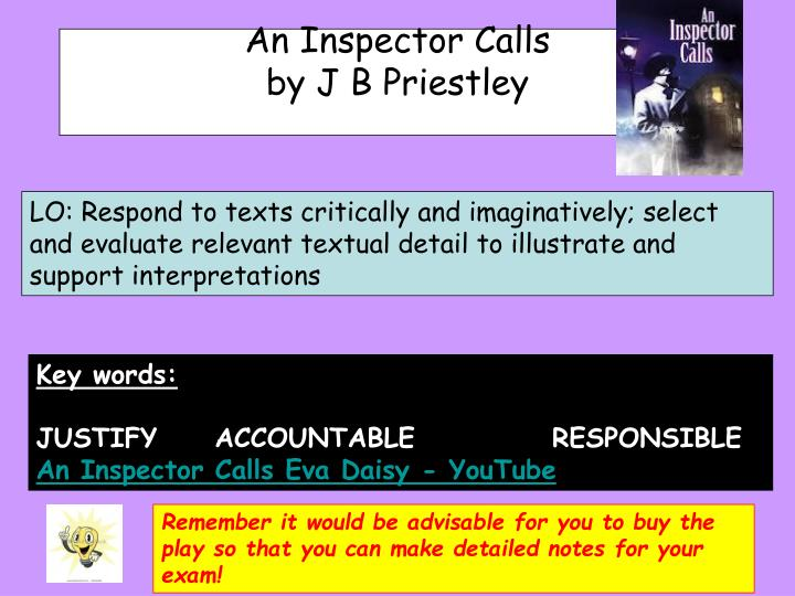 critical essays inspector calls Inspector calls essay watch announcements tips for getting the best grades in a level psychology what to include in an essay on 'an inspector calls.