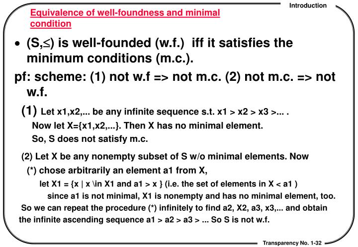 Equivalence of well-foundness and minimal condition